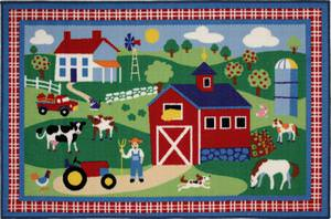 Fun Rugs Olive Kids Country Farm OLK-016 Multi Area Rug