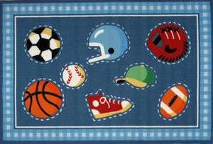 Fun Rugs Olive Kids Go Team! OLK-029 Multi Area Rug