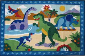Fun Rugs Olive Kids Dinosaurland OLK-052 Multi Area Rug