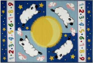 Fun Rugs Olive Kids Sleepy Sheep OLK-057 Multi Area Rug