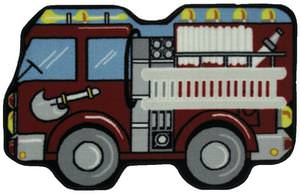 Fun Rugs Fun Time Shape Fire Engine QLTS-116 Multi Area Rug