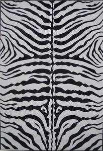Fun Rugs Supreme Zebra Skin TSC-045 Black White Area Rug