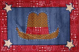Fun Rugs Supreme Cowboy Quilt TSC-245 Multi Area Rug