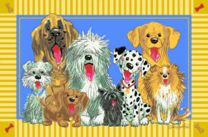 Fun Rugs Wags and Whiskers The Dogs of Duckport WW-03 Area Rug