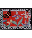 Fun Rugs Jade Reynolds Irises JR-TSC-169 Multi Area Rug