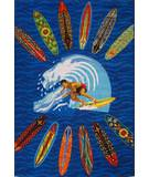Fun Rugs Surf Time Surfer Dude ST-21 Multi Area Rug
