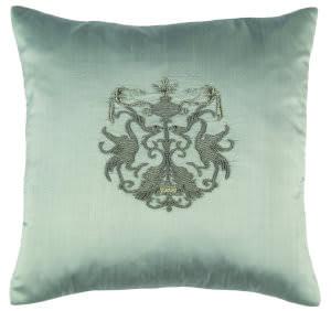 Lili Alessandra Crest Pillow L142 Blue