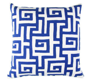 Lili Alessandra Onasis Pillow L218 White - Navy