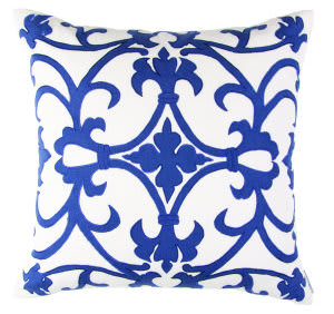 Lili Alessandra Olivia Pillow L288 White - Navy