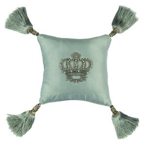 Lili Alessandra Imperial Crown Pillow L320 Blue