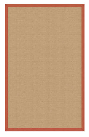 Linon Athena At0210 Sisal / Burnt Orange Area Rug