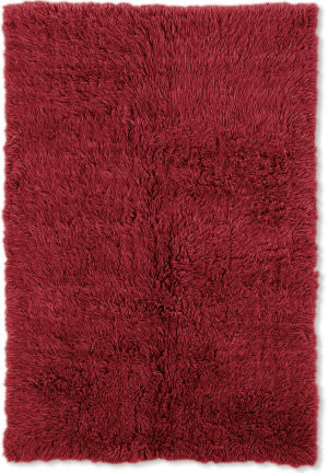 Linon 3a Flokati Flk-3ar01 2000grams / Red Area Rug