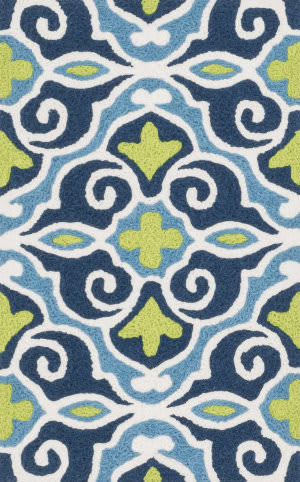 Loloi Angelou AN-15 Blue / Green Area Rug