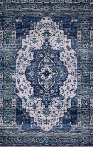 Loloi Cielo Cie-01 Ivory - Turquoise Area Rug