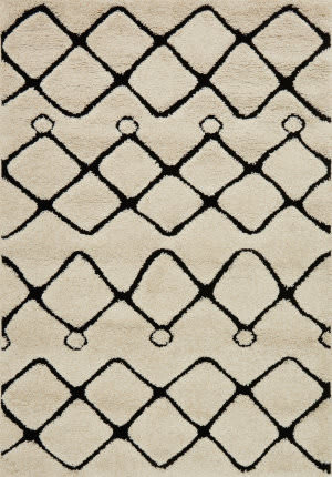 Loloi Enchant En-25 Ivory - Black Area Rug