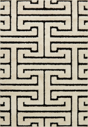 Loloi Enchant En-28 White - Black Area Rug