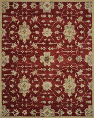 Loloi Fairfield Fairhff04 Red / Multi Area Rug