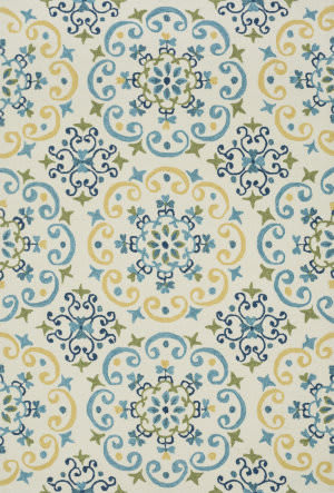 Loloi Francesca Fc-35 Ivory / Light Blue Area Rug