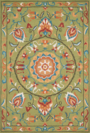 Loloi Francesca Fracfc-54 Green / Multi Area Rug