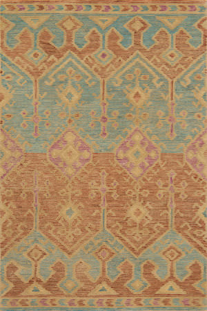 Loloi Gemology Gq-02 Spice - Teal Area Rug