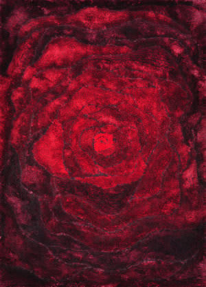 Loloi Glamour Shag Gs-01 Red Area Rug