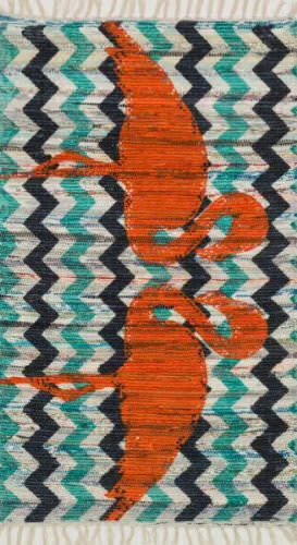 Loloi Aria AR-20 Aqua / Orange Area Rug