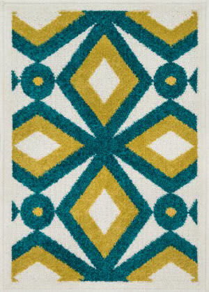 Loloi Terrace TC-09 Teal / Citron Area Rug