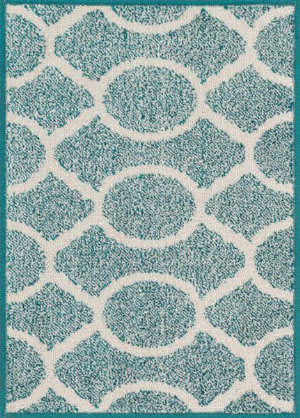Loloi Terrace TC-20 Teal / Ivory Area Rug