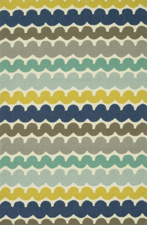 Loloi Ventura Hvt05 Multi Stripe Area Rug