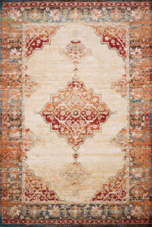 Loloi II Isadora Isa-04 Antique Ivory - Sunset Area Rug