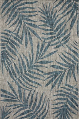 Loloi Isle Ie-10 Grey - Aqua Area Rug