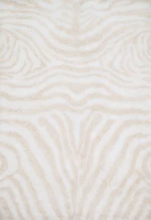 Loloi Kiara Shag Kr-01 Ivory - Cream Area Rug