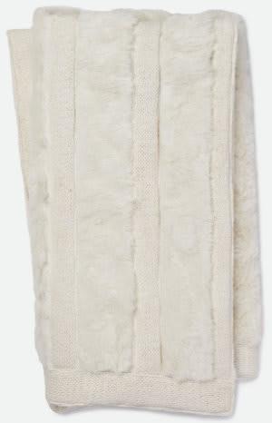 Loloi Neva Throw T0030 White Area Rug