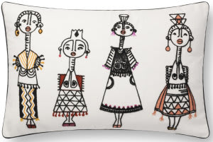 Loloi Pillows P0784 White - Multi