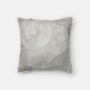 Loloi Felted Cotton Pillow P0221 Grey