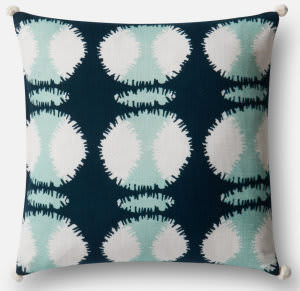Loloi Pillow P0480 Teal - White