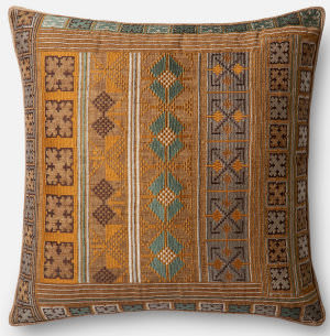 Loloi Pillow P0498 Gold - Teal