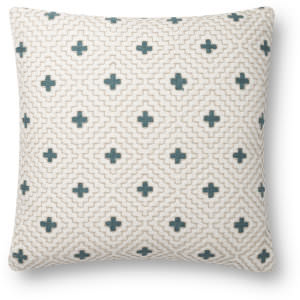 Loloi Pillows P0816 Ivory - Blue Area Rug