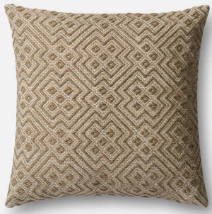 Loloi Pillow P0499 Charcoal - White