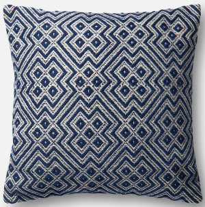 Loloi Pillow P0499 Navy - White