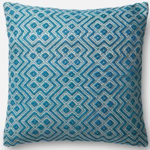 Loloi Pillow P0499 Teal - White