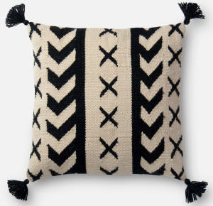 Loloi Pillow P0502 Black - Ivory