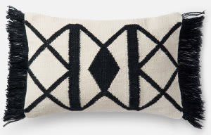 Loloi Pillow P0503 Black - Ivory