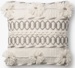 Loloi Pillows P0729 Natural - Grey