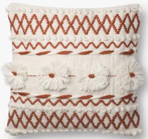 Loloi Pillows P0729 Natural - Rust