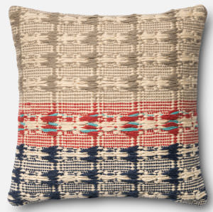 Loloi Pillow P0376 Red - Blue