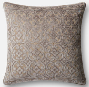 Loloi Pillow P0489 Silver - Taupe