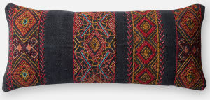 Loloi Pillow P0494 Black - Multi