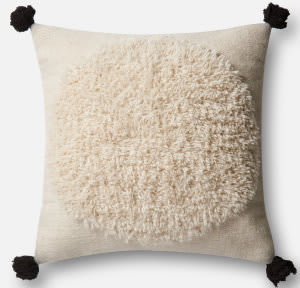 Loloi Pillow P0483 Ivory - Black
