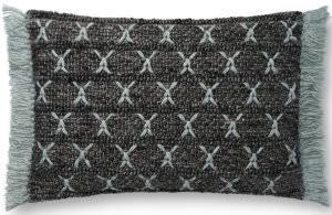 Loloi Pillows P0811 Charcoal - Blue Area Rug